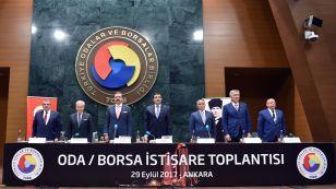 Oda/Borsa İstişare Toplantısı, TOBB Başkanı M. Rifat Hisarcıklıoğlu ile Gümrük ve Ticaret Bakanı Bülent Tüfenkci'nin katılımıyla TOBB İkiz Kuleler Konferans Salonunda gerçekleştirilen toplantıya Yönetim Kurulu Başkanımız Nazım Sezer katılım sağladı.