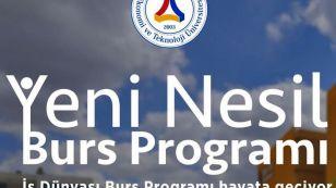 TOBB ETÜ İş Dünyası Burs Programı başvuruları başladı.  TOBB ETÜ, Türk iş dünyasının desteğiyle eğitimde fırsat eşitliği için yeni bir burs programı tasarladı.  YKS'de başarılı olan ancak maddi desteğe ihtiyacı olan öğrencilerimizin başvuruları için son başvuru 5 Ağustos.  Ayrıntılı bilgi için: http://isdunyasi.etu.edu.tr/tr