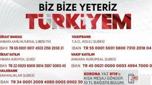"""Türkiye Odalar ve Borsalar Birliği (TOBB) """"Biz Bize Yeteriz Türkiyem"""" kampanyasına 10 milyon lira destek verecek. TOBB Başkanı M. Rifat Hisarcıklıoğlu, Cumhurbaşkanı Recep Tayyip Erdoğan'ın öncülüğünde başlatılan """"Biz Bize Yeteriz Türkiyem"""" Milli Dayanışma Kampanyası'na TOBB olarak 10 milyon lira destek sağlayacaklarını açıkladı. Kabinenin 25. toplantısının ardından basın açıklaması yapan Erdoğan, sivil toplum kuruluşlarının imkanları çerçevesinde ihtiyaç sahiplerine destek olmaya çalıştığını, bu konuda da devletin öncülük etmesi için """"Biz Bize Yeteriz Türkiyem"""" Milli Dayanışma Kampanyası'nı başlattıklarını açıklamıştı."""