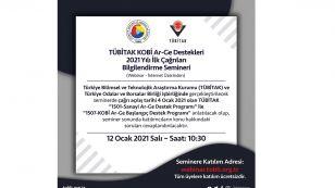 """TÜBİTAK ve Türkiye Odalar ve Borsalar Birliği (TOBB) işbirliğinde """"TÜBİTAK KOBİ Ar-Ge Destekleri 2021 Yılı İlk Çağrıları Bilgilendirme Semineri"""" (Webinar - İnternet Üzerinden) 12 Ocak 2021 Salı - Saat: 10:30  http://webinar.tobb.org.tr M.Rifat Hisarcıklıoğlu  TOBB   Türkiye Odalar ve Borsalar Birliği  Tübitak"""