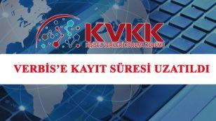 Sayın Üyemiz Sizlerden gelen talepleri Türkiye Odalar ve Borsalar Birliği'ne ilettik ve TOBB' un girişimleri sonucu, Kişisel Verileri Koruma Kurumu (KVKK) tarafından VERBİS'e kayıt zorunluluğu süresi 31/06/2020 tarihine kadar uzatılmıştır.